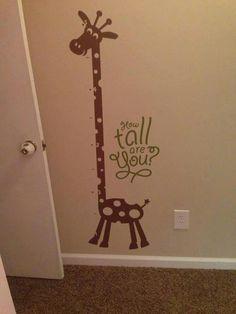 vinyl wall cling giraffe