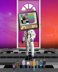 "66 Likes, 5 Comments - Febrian Prambudi (@feb.prambudi) on Instagram: ""fade-out stranger . . . . . . #astronaut #alien #galaxy #tv #television #door #purple #vivid #haiki…"""