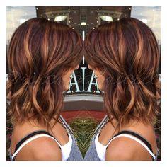 Ombré. Color melt. Fall hair color. Autumn hair color. Short hair. A Line b