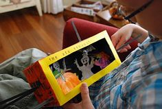 Puppet  box using a tissue box. Can really be used to for any theme. Not just Halloween.
