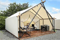 Canvas safari tent – Luxury Camping Tent for your outdoor holiday. safari tent designed ensures eco-friendly and comfortable living. Luxury Camping Tents, Luxury Tents, Camping Glamping, Camping Must Haves, House Tent, Tent Living, Wall Tent, Outdoor Movie Nights, Tent Design