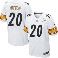 d74a8a4e5 Men s Nike Pittsburgh Steelers  20 Cameron Sutton Elite White NFL Jersey  Ike Taylor