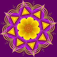 'Star-Flower-Mandala' --  very pretty indeed!