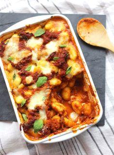 Gratin de gnocchis à la sauce tomate & mozzarella