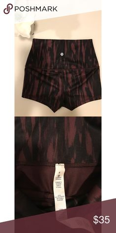 NWOT Lululemon Shorts Took the tags off these beautiful shorts but never wore. Amazing condition. Super comfy and stretchy. No flaws! Size 4. Pics reflect colors. lululemon athletica Shorts