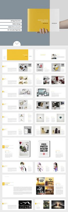 Graphic Design Portfolio Template by tujuhbenua on Creative Market - Graphic De . - Graphic Design Portfolio Template by tujuhbenua on Creative Market – Graphic De … – Graphic - Portfolio Design Layouts, Ideas De Portfolio, Layout Design, Portfolio Covers, Graphisches Design, Portfolio Book, Graphic Design Layouts, Creative Design, Design Portfolios
