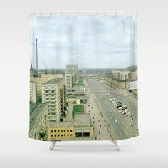 East Berlin Fernsehturm '69 Shower Curtain by Friedas Glück - $68.00