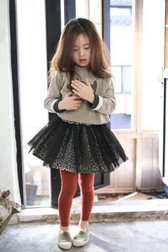 Girls tutu skirt for Halloween, Everyday, special design! black tulle leopard inner skirt for Autumn winter 24M~10Years old Made to order
