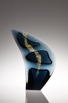 Michael Behrens Seaforms 2015-168 Kiln cast glass 26.4 x 20.1 x 5.1 Inches.