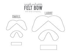 Bow Template  Cerca Con Google  Hair Bows    Craft