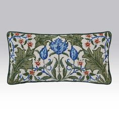 Morris Tulip Tile - Ehrman Tapestry. Needlepoint kit $110.