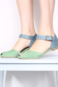 ec6be2292c Pastel colored peep toes. What more could your feet want  Handmade Leather  Shoes
