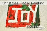 childrens christmas finger painting - Google Search