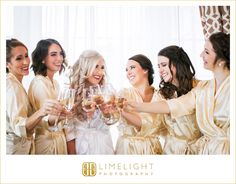 Wedding Day, Bridal Party, Bride, Bridesmaid, Cheers, Smiles, Robes, Happiness, Laughter, Friendship, Limelight Photography, WWW.Stepintothelimelight.com