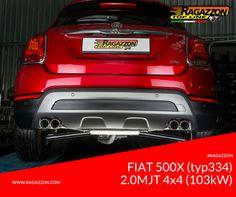 Ragazzon Exhaust: Fiat 500X (typ334) / 2.0MJT 4x4 (103kW) 2015