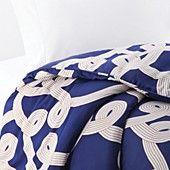 Dancing Knots Duvet by Diane von Furstenberg Bedding on Gilt Home Bedroom Bed, Guest Bedrooms, Bedroom Ideas, Master Bedrooms, Bedroom Inspiration, Guest Room, Nautical Bedding, Shops, My Favorite Color