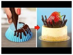 Delicious Chocolate Cake Hacks Ideas / How To Make Chocolate Cake Decorating Recipes Delicious Chocolate Cake Hacks Ideas / How To Make Chocolate Cake Decora… Chocolate Garnishes, Tasty Chocolate Cake, Chocolate Sweets, How To Make Chocolate, Food Garnishes, Chocolate Chocolate, Cake Decorating Videos, Cake Decorating Techniques, Decorating Hacks