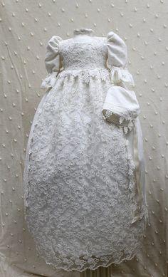 handmade christening gown Lace Christening Gowns, Baptism Gown, Baby Christening, Blessing Dress, Baby Blessing, Angel Gowns, Baptism Outfit, Girls Dresses, Flower Girl Dresses