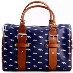 Anastasio Moda Denver Broncos Ladies Annabella Italian Made Handbag - Navy Blue