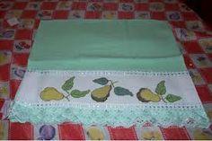 panos de pratos bordados - Pesquisa Google