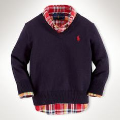 Suede-Elbow-Patch Wool Sweater - Infant Boys Jumpers - Ralph Lauren UK