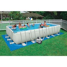 Amazing Portable Swimming Pools For Holiday Simple Rectangular Shape Fiberglass Above Ground