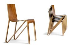 The Zesty Chair a brand new, all-plywood chair from Sweden designed by o4i. Produced by PLYCOLLECTION