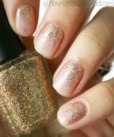 Glitter and Nails:  Essie Mademoiselle + Color Club Gingerbread