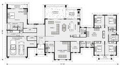 Good farm option G J Gardner Homes. Rochedale 412 dw linen cabinet for bedrooms and master bedrm ensuite idea 6 Bedroom House Plans, Dream House Plans, House Floor Plans, The Plan, How To Plan, Dream Home Design, My Dream Home, House Design, House Plans Australia
