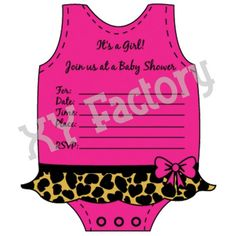 Diva Dress Baby Shower Invitations by XYFactory on Etsy, $13.99