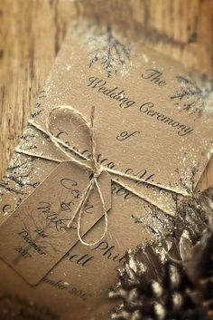18 Elegant Winter Wedding Invitations ❤ See more: http://www.weddingforward.com/winter-wedding-invitations/ #wedding #invitations