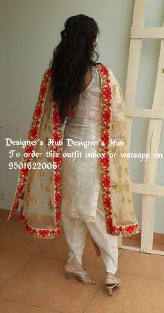 #pintrest@Dixna deol Salwar Suits Party Wear, Punjabi Salwar Suits, Punjabi Dress, Designer Punjabi Suits, Punjabi Bride, Indian Designer Wear, Patiala, Salwar Kameez, Indian Suits