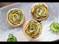 Rose di sfoglia con zucchine finger-food - YouTube