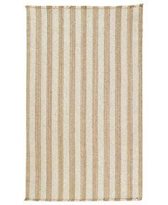 Capel Area Rug, Hampton Flatweave 0404-760 Shingle Stripe 3' x 5'