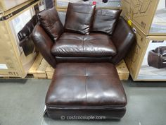 Pulaski Knox Accent Chair And Storage Ottoman At Costco   Comfort Of A  Couch, But