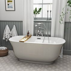 The Bath Co. Camberley Storm Coloured Traditional Freestanding Bath 1500 X 720 Contemporary Bathrooms, Modern Bathroom, Small Bathroom, Beautiful Bathrooms, Traditional Baths, Traditional Bathroom, Freestanding Bath Taps, Bedroom With Bath, Dreams
