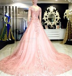 wedding dress kebaya modern ball gown pink 2016 Ball Dresses, Ball Gowns, Formal Dresses, Kebaya Pink, 2016 Wedding Dresses, Dress Wedding, Pink 2016, Kebaya Wedding, Indonesian Wedding