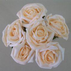 Colourfast Cottage Foam Roses Bundle Summer Melon 6 Pack - R341