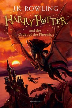 Here are the new UK Harry Potter covers you won't be able to buy. - Harry Potter's publisher, Bloomsbury, announced a new line of covers for the book series. - 'Harry Potter and the Order of the Phoenix' - new Bloomsbury cover by Jonny Duddle