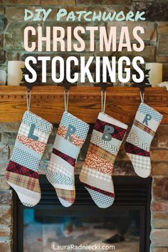 Christmas is coming! DIY Tutorial Step by Step - How to Make a Patchwork Christmas Stocking. Christmas stocking tutorial, christmas stocking diy, christmas stocking how to. Christmas Makes, Diy Christmas Tree, Homemade Christmas, Christmas Ideas, Christmas Outfits, Christmas Traditions, Holiday Ideas, Christmas Ornaments, Diy Christmas Stocking Pattern