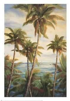 Art Print: Tropical Paradise I by Alexa Kelemen : Tropical Beaches, Tropical Art, Tropical Paradise, Landscaping Near Me, Tropical Landscaping, Landscaping Software, West Indies Style, Landscape Design Plans, Beach Pictures