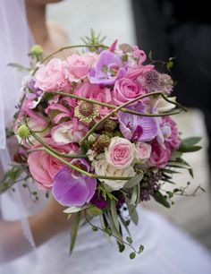 Brautstrauß - rosa-lia