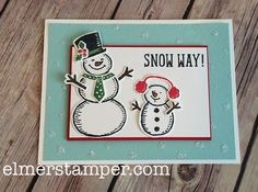 Snow Place and Snow Friends make this adorable card with a super each background technique video.