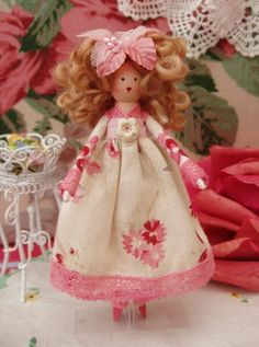 Eloise Lillipeg Clothespin Peg Doll custom order for by lucybloom