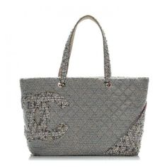 CHANEL Tweed Quilted Large Cambon Tote Grey ❤ liked on Polyvore featuring bags, handbags, tote bags, chanel handbags, handbags totes, shoulder tote handbags, shoulder hand bags and purse shoulder bag