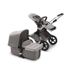 Personalized service & Quick shipping on the Bugaboo Fox Complete Stroller Aluminum/Blue Melange only Baby! Bugaboo Stroller, Baby Strollers, Sun Canopy, Travel System, Babys, Baby Car Seats, Compact, Fox, Medium