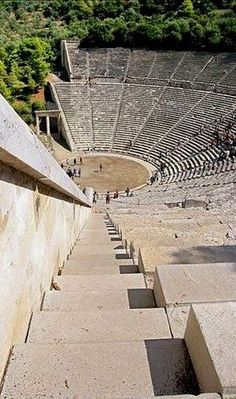 *GREECE~Ancient Theatre of Epidaurus, Peloponnese mainland destination Ancient Ruins, Ancient Greece, Ancient Artifacts, Ancient Egypt, Albania, Ancient Greek Architecture, Greece Architecture, Theatre Architecture, Architecture Design