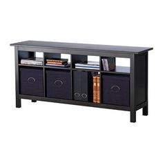 HEMNES Sofa table IKEA Solid wood; gives a natural feel.