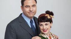 Jessica Raine David Walliams as the detective duo Tommy and Tuppence in Partners In Crime