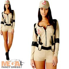 Sexy ghostbusters #ladies fancy #dress halloween 1980s womens adult shorts…